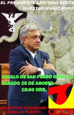 PRIMER Y UNICO POSTER PARA SAN PEDRO CHOLULA!!!